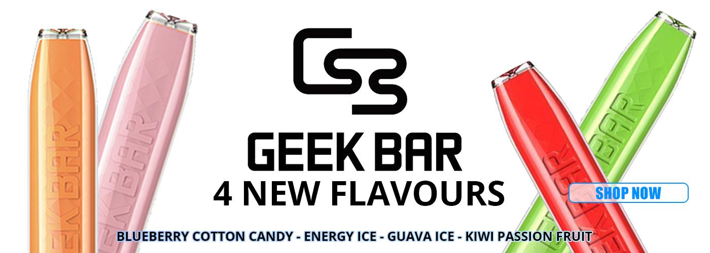 Geek Bar 4 New Flavours
